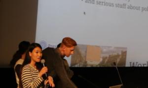 Eva Xie presenting