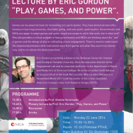 How games are playing us – Eric Gordon's lecture and workshop on civic gaming and the difference between gamification and empowerment