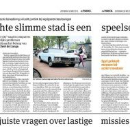 "Newspaper article ""A truly smart city is a playful city"" (Parool, May 30 2015)"