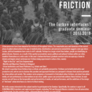 [urban interfaces] graduate seminar series 2017-2018